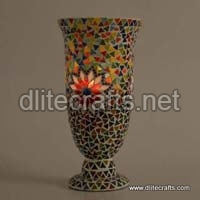 Glass Mosaic Color Candle Holder