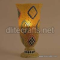 Glass Color Mosaic Candle Holder