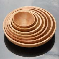 Wooden Bowl Plate Set