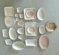 Areca leaf plates and bowls