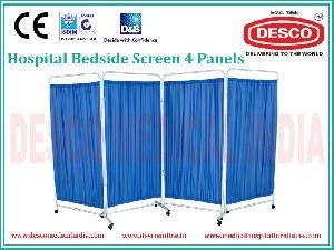 4 Panel Bedside Screen