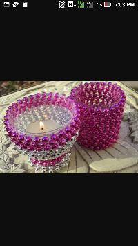 Designer Beads Candle Votive
