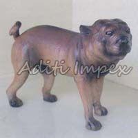 Handicraft Leather Boxer Dog Sculpture