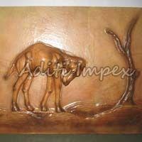 Handicraft Leather Camel Sculpture