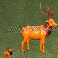 Handicraft Leather Deer Sculpture