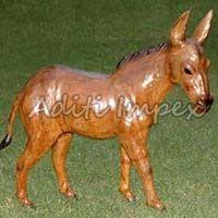 Handicraft Leather Donkey Sculpture