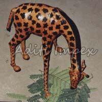 Handicraft Leather Giraffe Sculpture