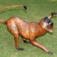 Handicraft Leather Monkey Sculpture