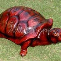 Handicraft Leather Turtle Sculpture