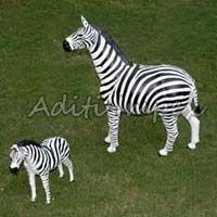 Handicraft Leather Zebra Sculpture