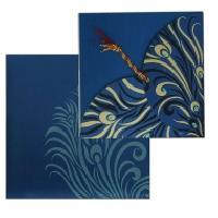 Blue Designer Personal invitation Card