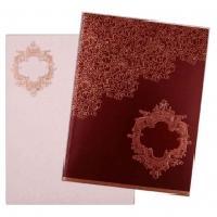 Stunning Royal Red Sikh Invitation card