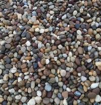 multicolour river pebbles