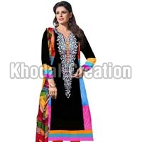 Attractive Black Colored Anarkali Suit