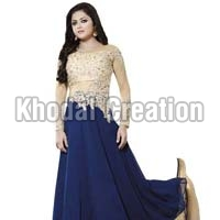 Beautiful Blue Colored Georgette Anarkali Suit