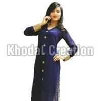 Blue Colored Embroidered Plazoo Salwar Suit
