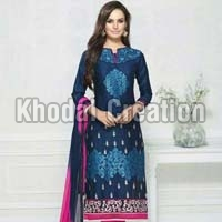 Cotton Heavy Embroidery Work Suit