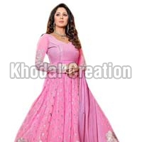 New Pink Designer Anarkali Suits