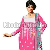Royal Pink Colored Straight Salwar Suit