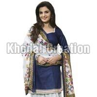 Sayali Blue Color Embroidered  Patiyala Suit