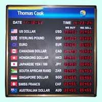 Foreign Currency Exchange Display Boards