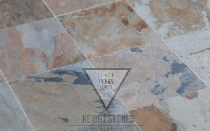 Indian Autumn Slate Tiles Slabs