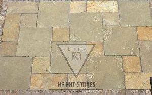 Kota Brown Limestone Tiles Slabs