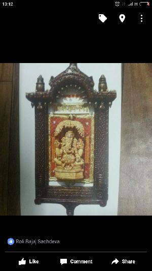 Handcrafted Jharoka Ganesha Craft Wall Painting