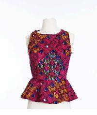 Pink Aku Ankara Peplum dress
