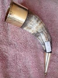Decorative drinking horn