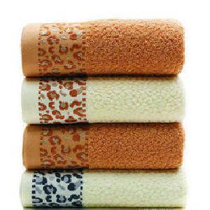 Tiger Print Dobby Towels