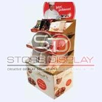 Chocolate 3 Trays POS Display Stand