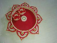 Wooden Pooja Thali