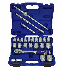 Goodyear 1/2 Inch Drive Socket Sets - 24 Pcs