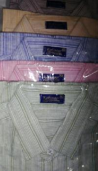 Mens Khadi Cotton Striped Shirts