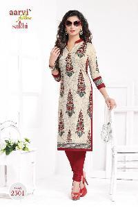 Aarvi Sakhi Khadi Cotton Wholesale Kurti