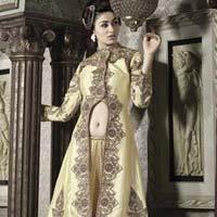 Cream Color Pure Banarasi Suit