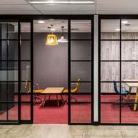 Aluminium Office Black Partitions