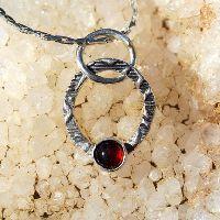 Garnet Necklace - Garnet Pendant - January Birthstone