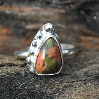 Unakite Ring - Sterling Silver Ring