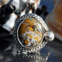 Yellow Jasper Ring - Sterling Silver Ring