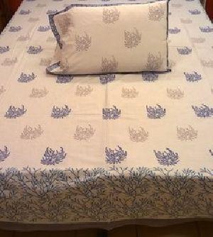 Block Printed Indian Decorative Bed Cover
