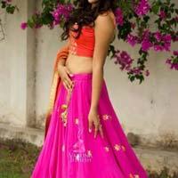 Designer Lehenga Choli With Whitecolor Lahenga And Net Fabric - 9255