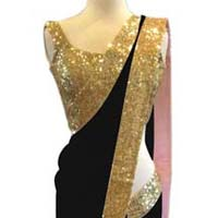 Latest Stylish Net Designer Saree With Black Color-9247black