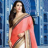 Latest Stylish Satin Designer Saree With White Color - 9601