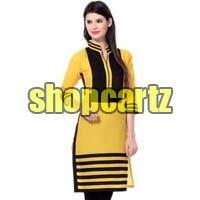 kurti balck yellow