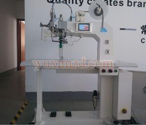 Hot air welder for jackets and car hood making machine