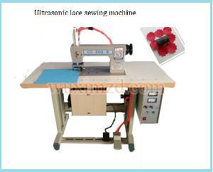 Ultrasonic lace sewing machine lace cutting