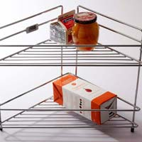 Stainless Steel Double Corner Rack