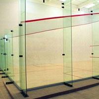 Squash Court Wall Back Glass Designing